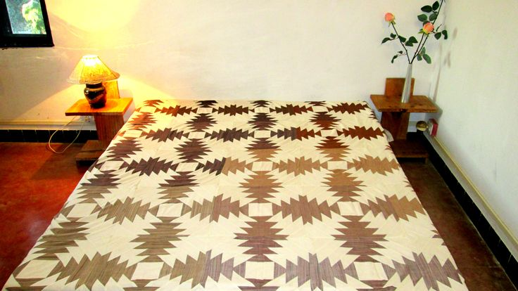 Bedcover Brown & White Patchwork (BCPP)
