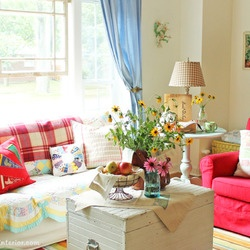 Cottage Industry - Portfolio - Decorating  cottage living room - like the relaxed feel and colours