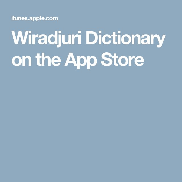 Wiradjuri Dictionary on the App Store