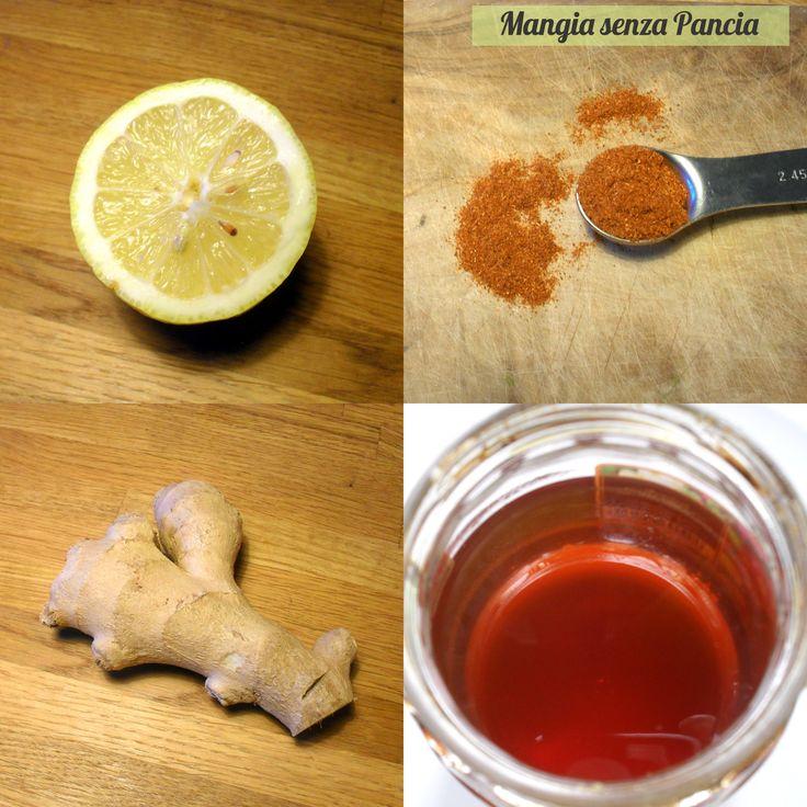 Tisana depurativa limone pepe di cayenna e zenzero | Mangia senza pancia