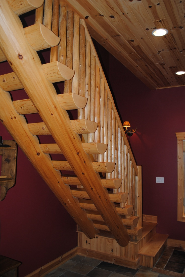 Best Unique Staircase In Our Custom Home Near Boyne City 400 x 300