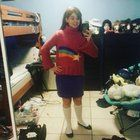 [Self] First knit sweater for a cosplay! (Mabel Pines Sweater from Gravity Falls)