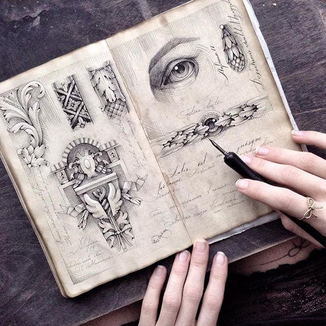 Sketching. Ink, pen, moleskine, love ❤️ #limkina_sketches
