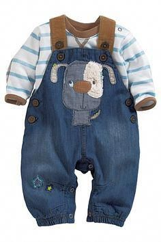 c11711b1e Newborn Clothing - Baby Clothes and Infantwear - Next Dog Dungarees ...