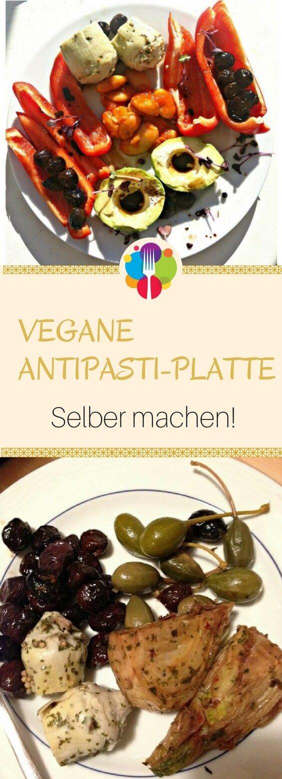 Vegane Antipasti Platte selber machen - Vegalife Rocks: www.vegaliferocks.de ✨ I Fleischlos glücklich, fit & Gesund✨ I Follow me for more vegan inspiration @vegaliferocks