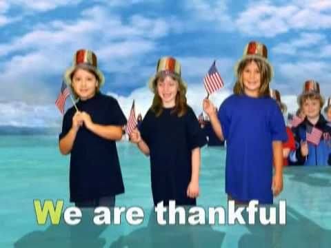 we are thankful for the U.S.A. {fun song for kids}