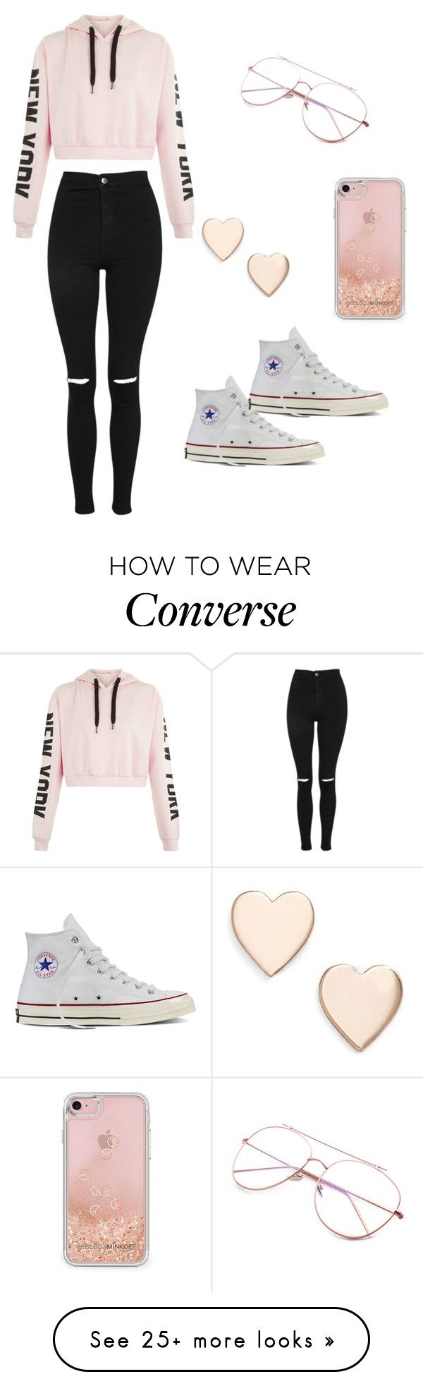 """Uniform"" by aarya-tulasi on Polyvore featuring Topshop, Poppy Finch, Rebecca Minkoff and Converse"