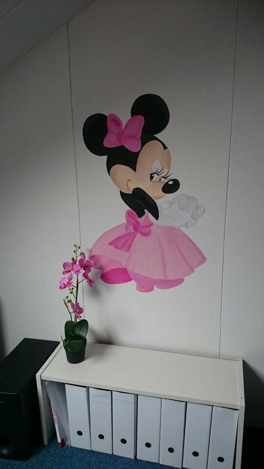 Muurschildering minnie mouse  You-and-i-muurschilderingen.nl