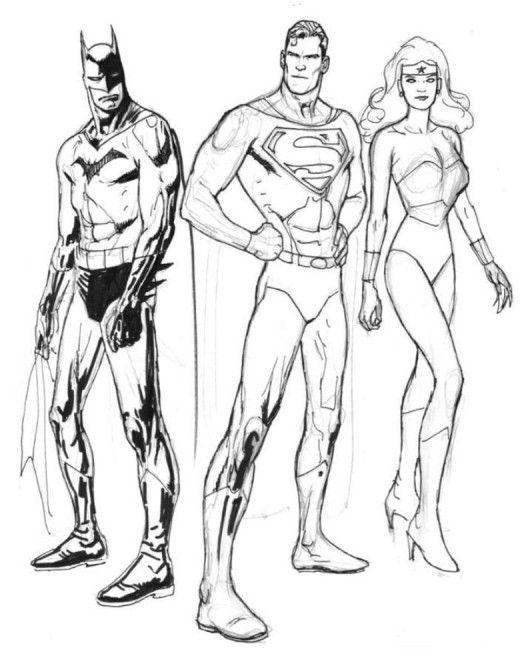 superheroes coloring