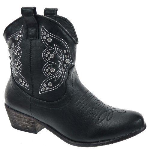 In Offerta! #Offerte Abbigliamento#Buoni Regalo   #Outlet Kickly - Scarpe da Moda Scarponi Stivaletti - Stivali Santiags - Cowboy alla caviglia donna strass Tacco western 4.5 CM - soletta tessuto - Nero disponibile su Kellie Shop. Scarpe, borse, accessori, intimo, gioielli e molto altro.. scopri migliaia di articoli firmati con prezzi da 15,00 a 299,00 euro! #kellieshop #borse #scarpe #saldi #abbigliamento #donna #regali