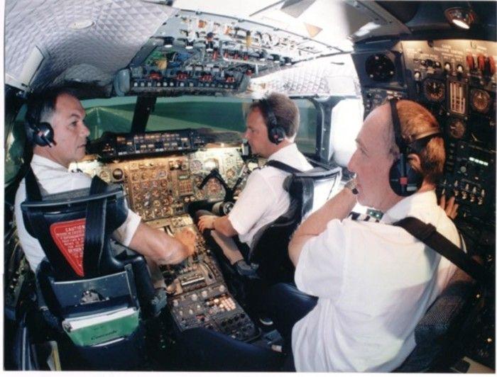 British Airways : cockpit du Concorde