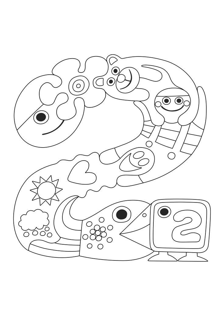 Pikku Kakkosen logo | värityskuva | lasten | askartelu | käsityöt | koti | värittäminen | free printable pattern | DIY ideas | kid crafts |  home | colouring | Pikku Kakkonen