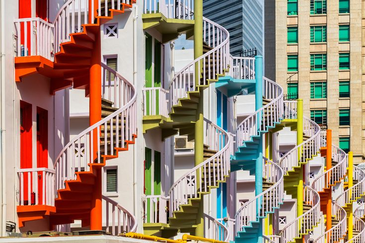 Best Colourful Spiral Stairs Of The Bugis Village In 400 x 300