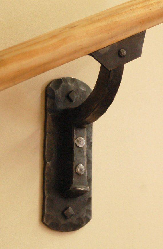 Hammered Steel Railing Bracket Heavy Hammer Texture