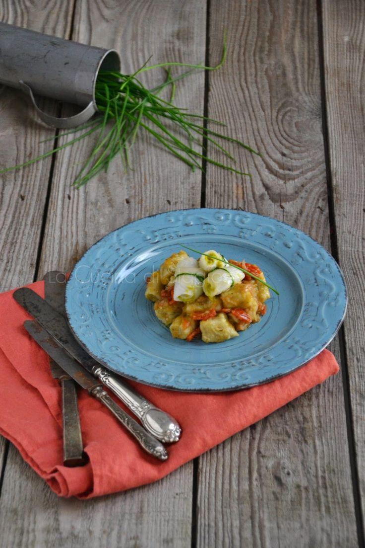 La Cucina di Stagione: Gnocchi di melanzane con sogliola ai pistacchi e m...