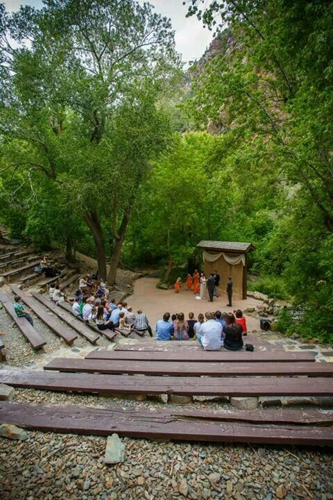 Storm Mountain Amphitheater Wedding Campground Wedding Outdoor Theater Celebrity Weddings