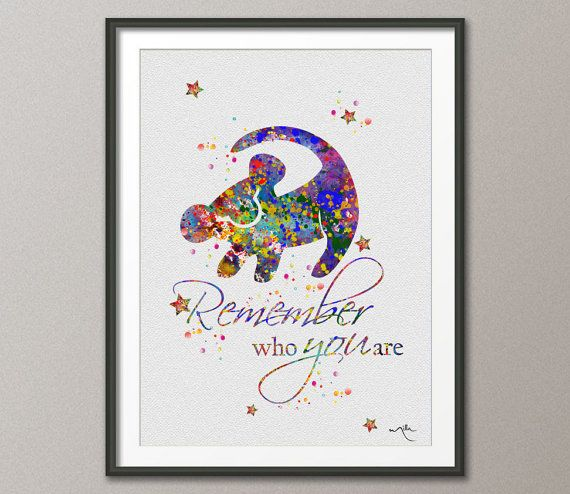 The Lion King Simba Quote Watercolor Art Print