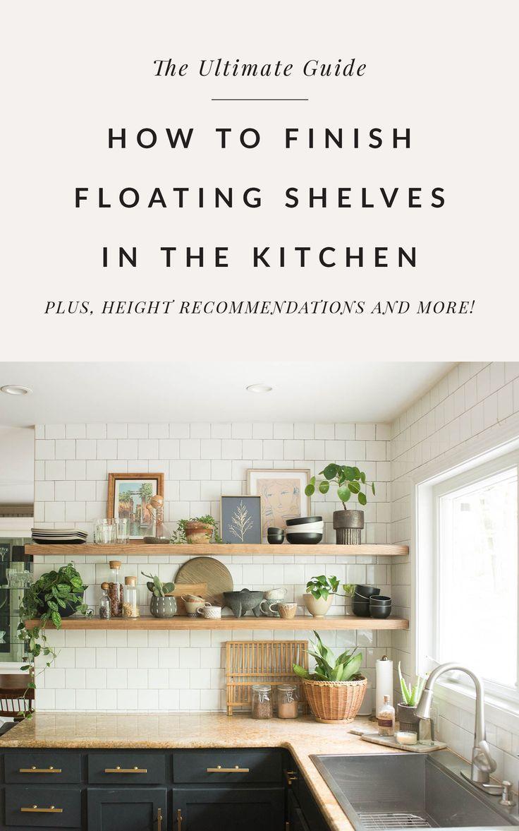 25+ Kitchen floating shelf height inspirations