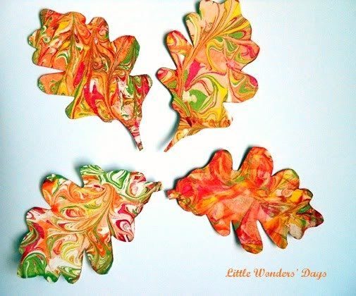 Here's a Fall project that's just as fun for kids as it is for adults — and it's a Pinterest favorite! These easy shaving cream painted leaves from Little Wonders' Days will have you swirling paint right next to your tot to create Autumn leaves. String the finished creations to create a decorative garland, or hang them from a stick for a lovely, leaf-filled mobile. Source: Little Wonders' Days