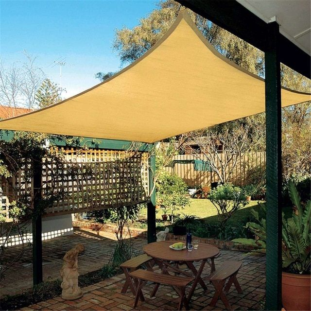 Hot Sale 2 5x2 5m Rectangle Top Sun Shade Sail Shelter Outdoor Garden Patio Car Cover Awning Canopy Review Pool Shade Shade Sail Patio
