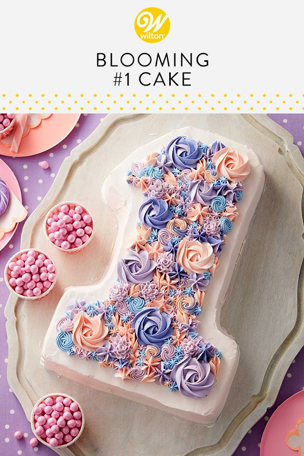 This Blooming Number 1 Cake Is A Great Way To Celebrate First Birthday Made
