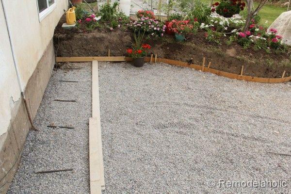 DIY Concrete Patio Part e