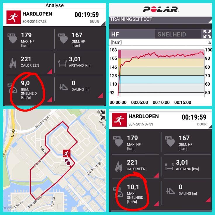Mijn eerste training op weg naar de halve marathon!