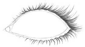 Some people's eyelashes appear very thick, dark, and long, especially if they are wearing mascara.