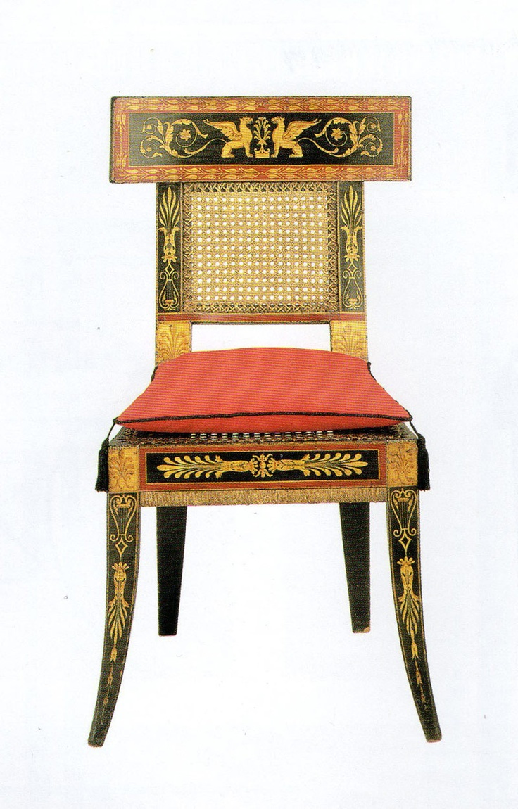 Ancient roman furniture chairs - Klismos Style Chair Designed By Latrobe For The Waln House Philadelphia House Demolished