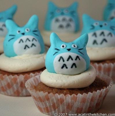 Totoro Totoro!Cat Cupcakes, Blue Cupcakes, Cake Recipe, Little Owls, Birthday Parties, Cupcakes Toppers, Totoro Cupcakes, Cups Cake, Cupcakes Rosa-Choqu