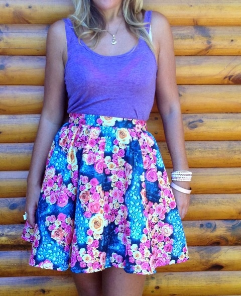 High Waisted Self Made Skirt