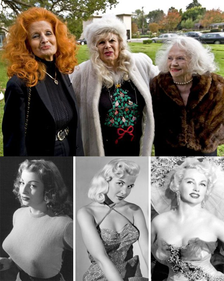 Tempest Storm, Gloria Pall & Dixie Evans at Bettie Page's funeral in Westwood Memorial Park, Los Angeles, 2008