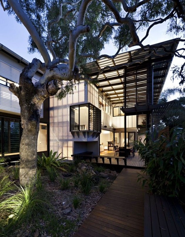Bark Architects have designed the Marcus Beach House, located on the Sunshine Coast of Queensland, Australia.