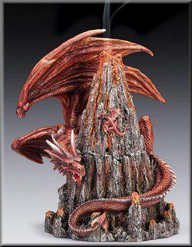 Dragon Volcano Incense Burner