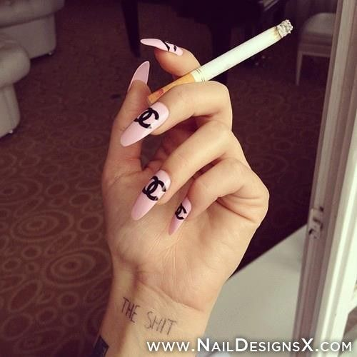 216 best trendy nail designs nail art images on pinterest chanel stiletto nail art nail designs nail art prinsesfo Image collections