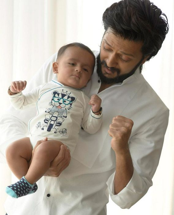 Riteish Deshmukh shares adorable picture of his son Riaan. #Bollywood #Cute #Family