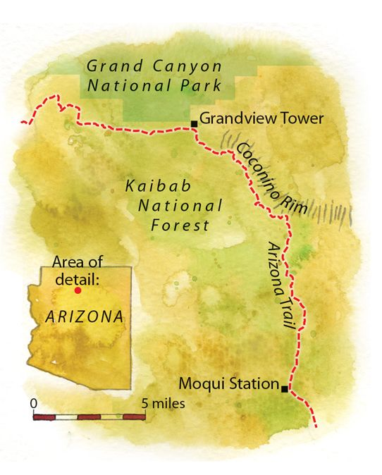 Grand Canyon National Park Trailhead Map