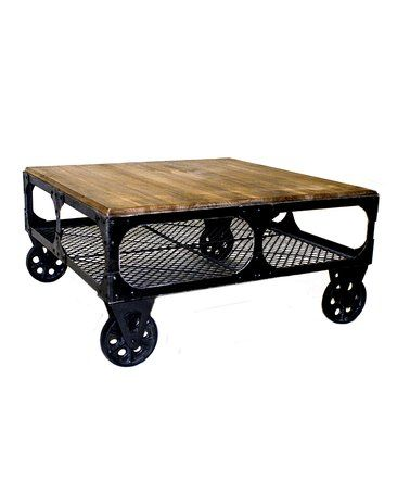 Look what I found on #zulily! Industrial Alfred Wheeled Coffee Table #zulilyfinds