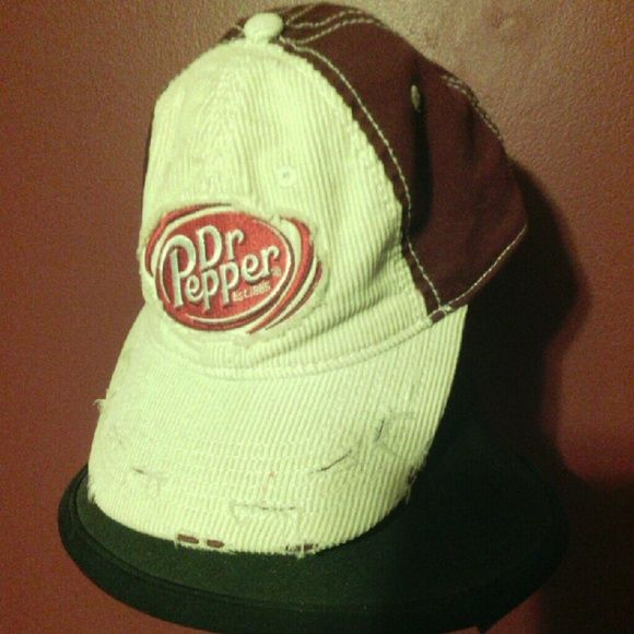 Dr Pepper Accessories - Vintage retro Distressed Dr Pepper Cap Hat