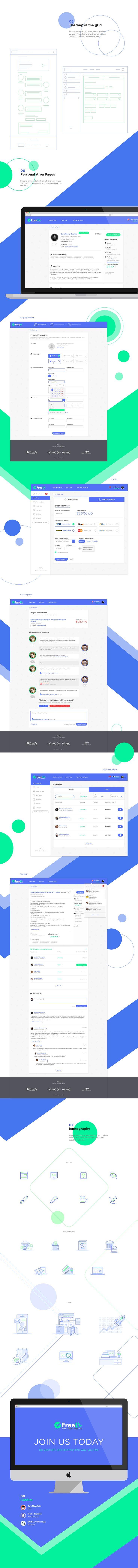 Freell - freelance website on Behance