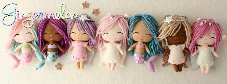 muñecas de fieltro