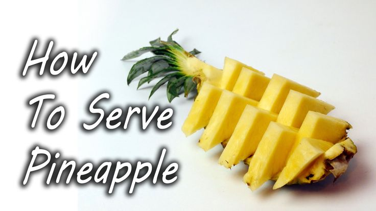 Dave Hax (see previously) shows off a simple way to prepare and serve a pineapple at parties to share with friends. He cuts the pineapple into four quarters, slices the delicious fruit away from th...