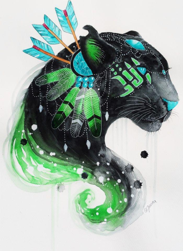 warrior panther Art Print