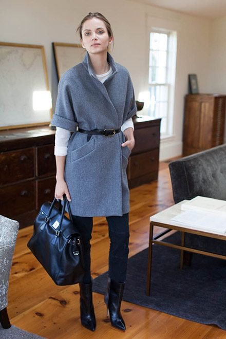 the Topper Coat Grey