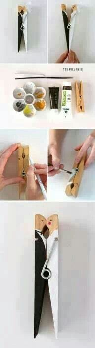 Bridal shower. use clothespin to hang up banners/decorations