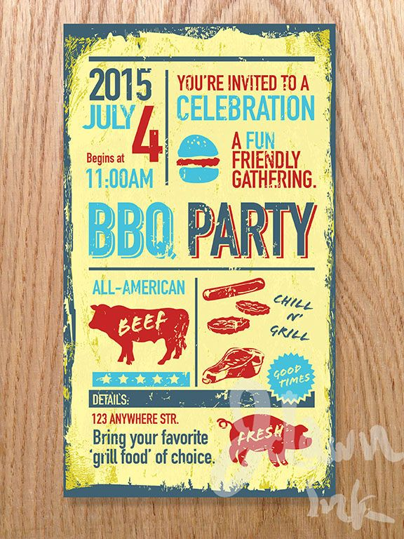 15 best BBQ illustrations images on Pinterest Invitation design - bbq invitation template