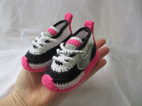 Crochet Sneakers Inspired by Nike handmade by BUBUCrochet