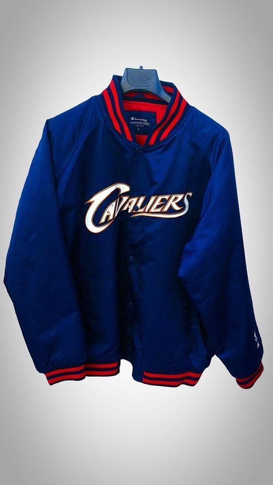 giubbino uomo campion u.s.a. tg L cleveland cavaliers blu nba usato jacket used