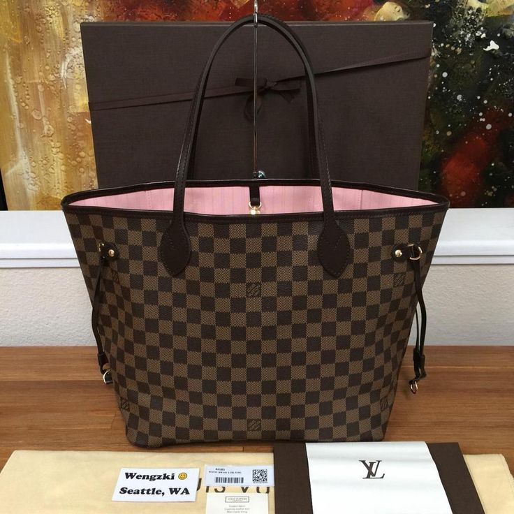 louis vuitton neverfull mm rose ballerine. brand new 2016 neverfull mm in rose ballerine. includes box, dustbag, tags, and receipt! damier ebene tote bag. louis vuitton mm ballerine o