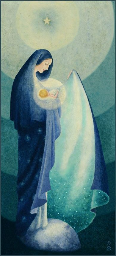 Our Lady of the Night, Sister Marie Pierre Semler, 1934 I've always thought of the night as the cloak of Our Mother.. and now here is a beautiful visual. LOVE.